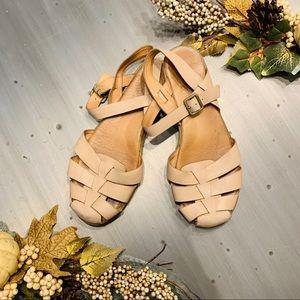 Kork Ease | Leather Woven Sling Back Sandals